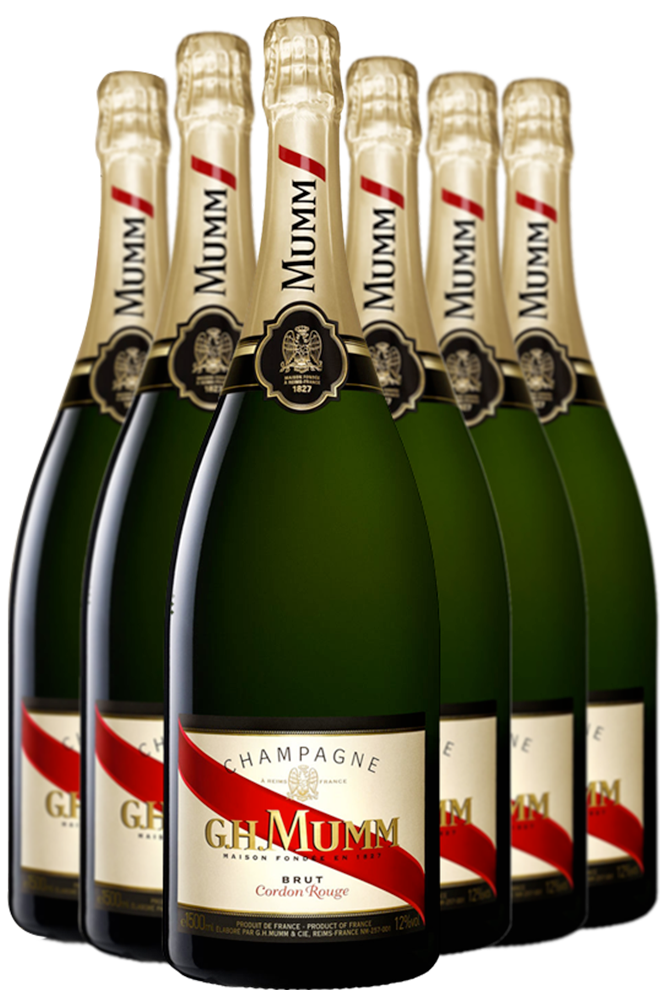 6 Bottiglie Champagne Mumm Cordon Rouge Cuvée Privilege Brut 75cl (Non Astucciato)